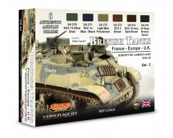 Acrylic colours Lifecolor for British tanks WWII CS44