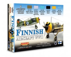 Acrylic colours Lifecolor for Finnish aircraft XS09