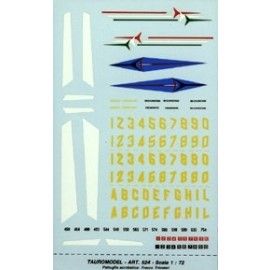 Decals Tauro Model TU72524