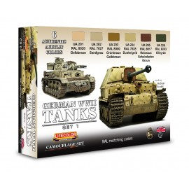 Acrylic colours Lifecolor for German tanksCS01