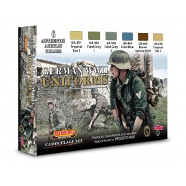 Acrylic colours Lifecolor for German uniforms CS04