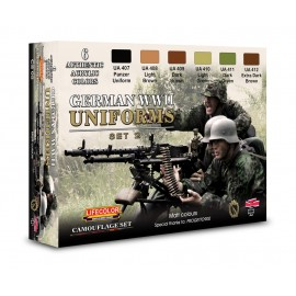 Acrylic colours Lifecolor for German uniforms CS05