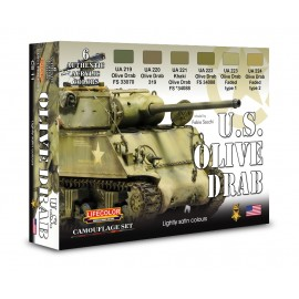 Acrylic colours Lifecolor for American Tanks CS11