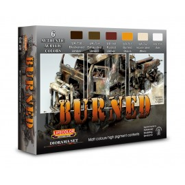 Acrylic colours Lifecolor for Burned vehicles CS29