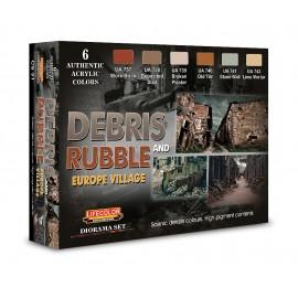 Acrylic colours Lifecolor for Debris and rubbles CS31
