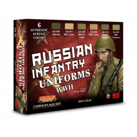 Acrylic colours Lifecolor for Russian uniforms CS42