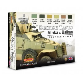 Acrylic colours Lifecolor for British tanks WWII CS43