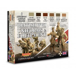Acrylic colours Lifecolor for British uniforms WWI CS45