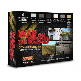 Acrylic colours Lifecolor to realize concrete, tarmac and plaster War on The Road CS49
