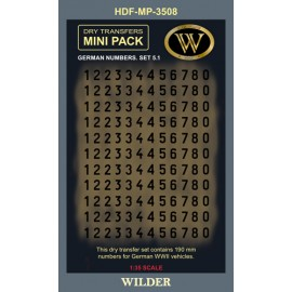 Dry transfers Adam Wilder AWMP3508