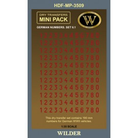 Dry transfers Adam Wilder AWMP3509