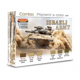 Pigments and colours Lifecolor for Israeli Army SPG01