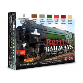 Acrylic colours Lifecolor for british railways XS10