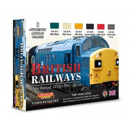 Acrylic colours Lifecolor for british railways XS12
